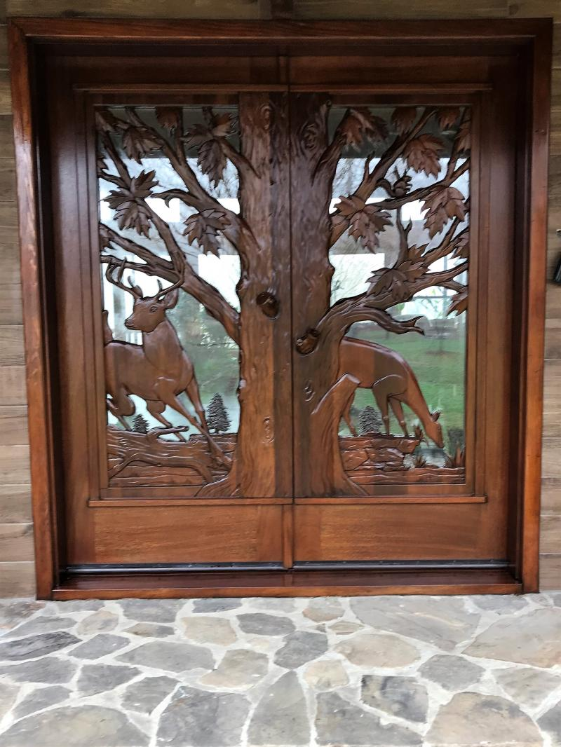 Deer Double Doors After