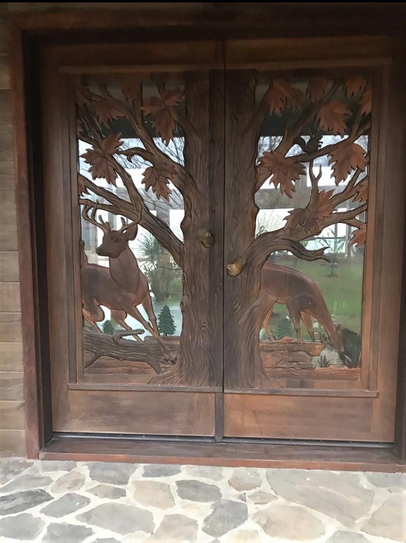Deer Double Doors Before